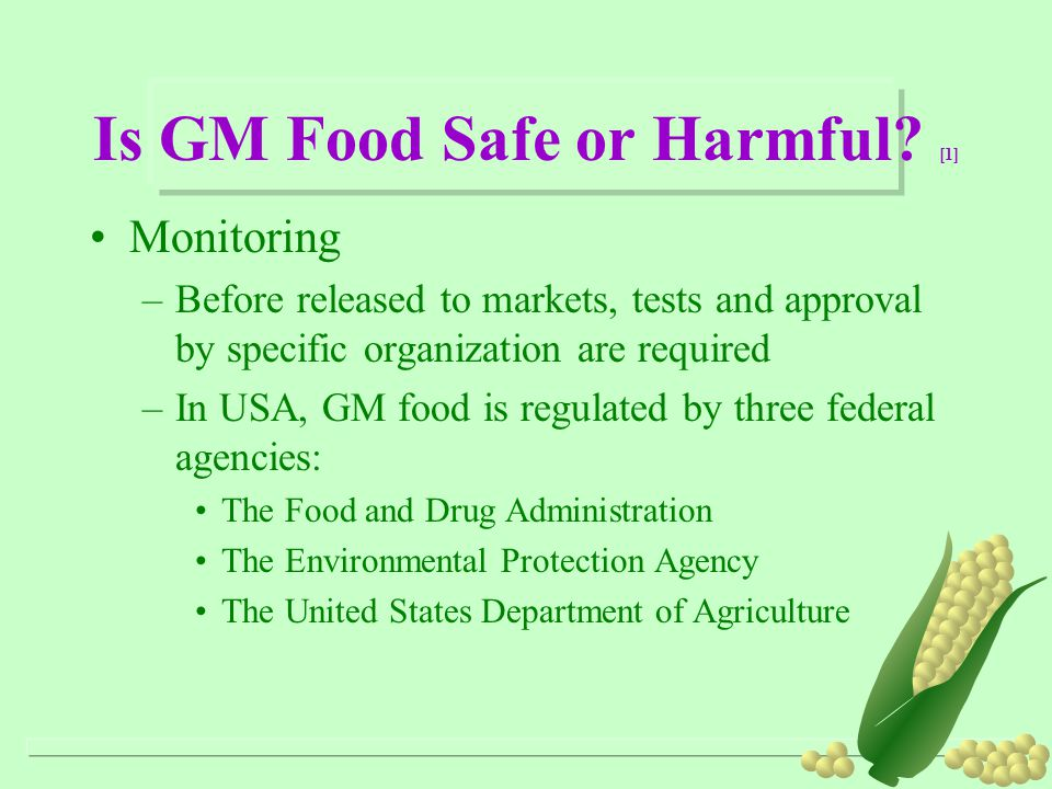 Is GM Food Safe or Harmful [1]